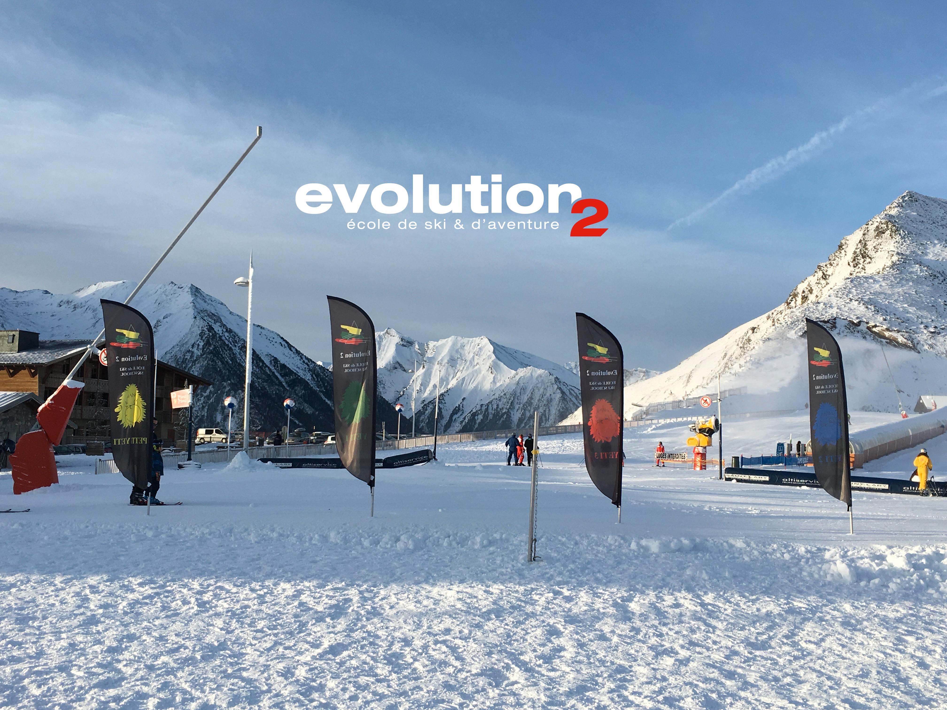 Départ des cours de ski de l'école de ski de Saint Lary