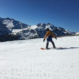 cours de snowboard à Saint Lary