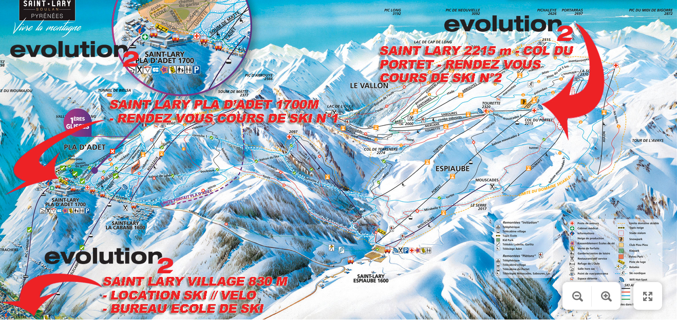 rendez vous cours de ski saint lary