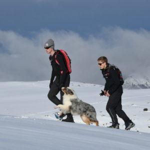 randonnée raquette neige Saint lary